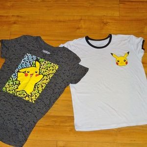 Pokemon Pikachu Tee T shirt set - 10
